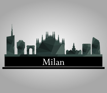 milan skyline Stock Photo