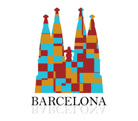 sagrada familia: icon Sagrada Familia Stock Photo