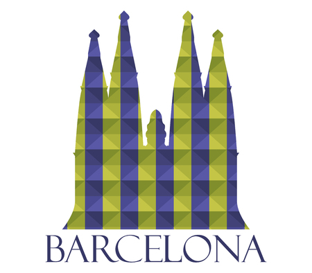catalonia: icon Sagrada Familia Stock Photo