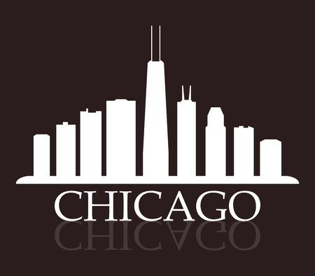 chicago skyline 写真素材