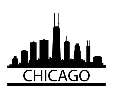 Chicago skyline Standard-Bild - 67762757