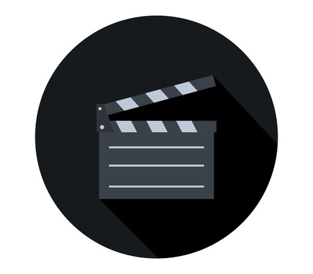 movie clapperboard icon Stock Photo