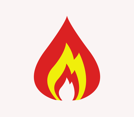 Fire icon illustrated on a white background