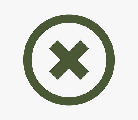 deny: icon closing
