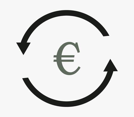 stylized banking: convert euro icon