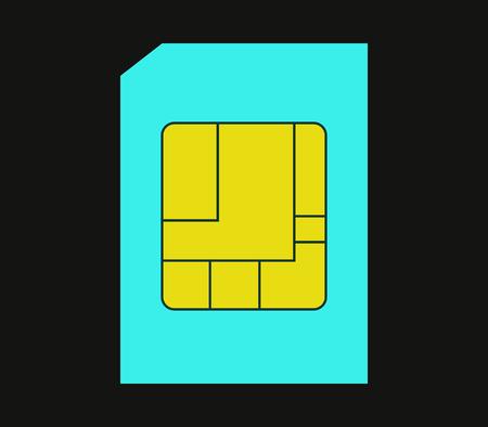 sim: Icon sim card