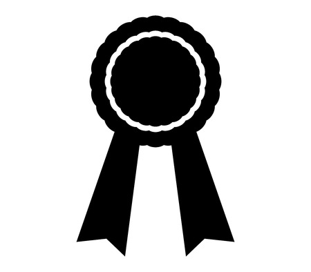 medal icon with ribbon