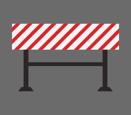 traffic barricade: icon traffic sign Illustration