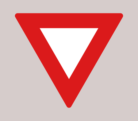 give: icon Road sign give way