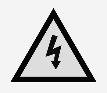 icon electrical warning sign Illustration