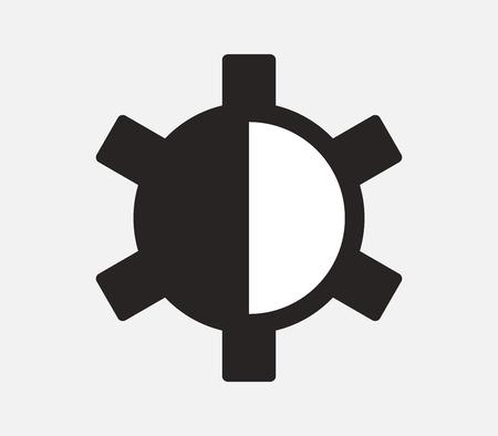 brightness: icon brightness and contrast
