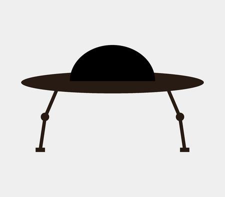 flying saucer: UFO flying saucer icon. Illustration