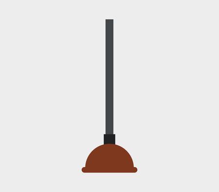 plunger: icon plunger Illustration