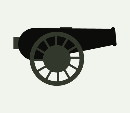 battlefield: War cannon icon Illustration