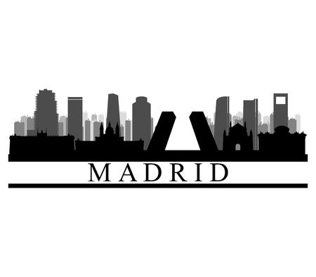 Madrid skyline  icon Illustration