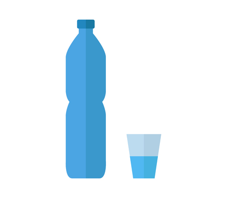 Water bottle with glass icon