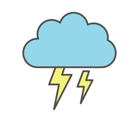 cloud icon with lightning Illustration