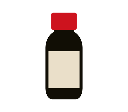 cough syrup: Icon bottle of syrup