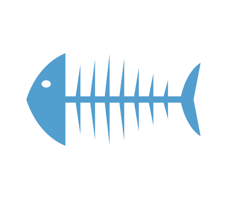 fish skeleton icon Illustration