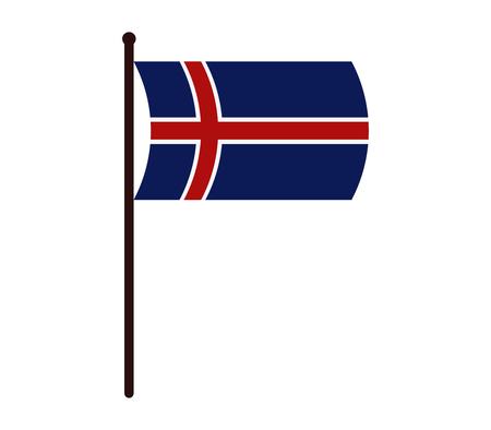 calendar icon: Iceland flag icon