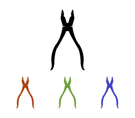 Set of pliers Illustration