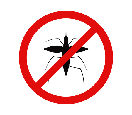 No mosquito icon Illustration