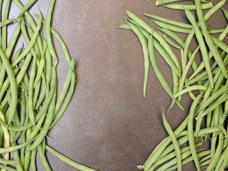 green bean: Green bean on a wooden background