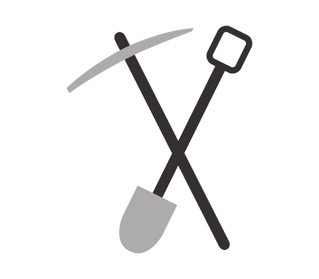 Pickaxe and shovel to dig Illustration