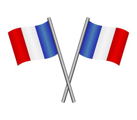 Flag of France Vettoriali