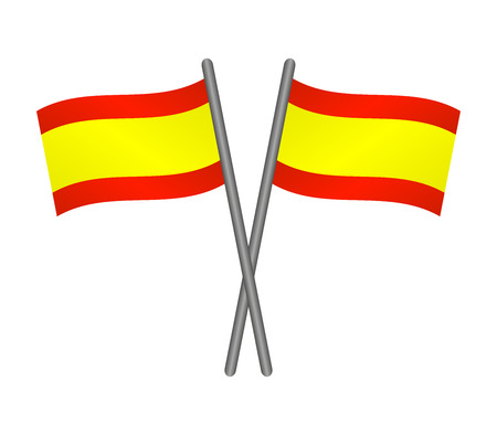madrid spain: Flag of Spain