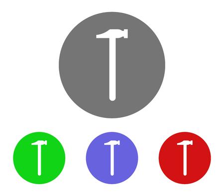 Hammer icon set