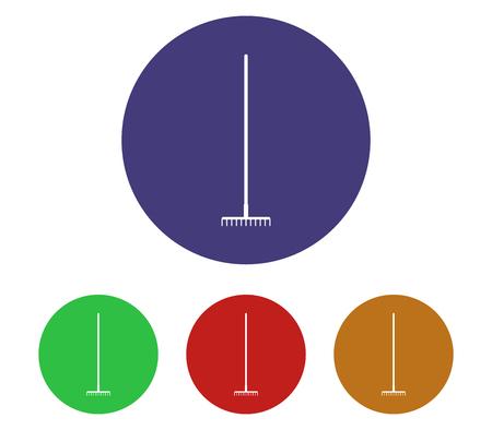 Rake icon buttons.