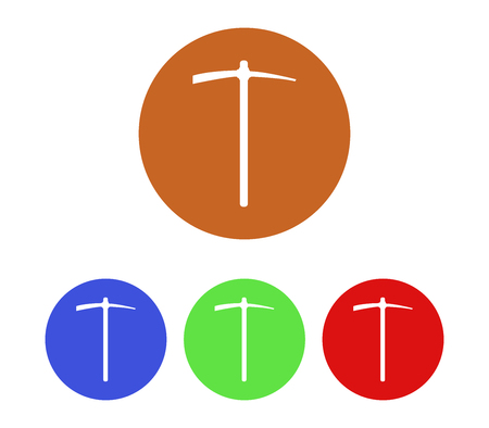 september calendar: Set of pickaxe icons