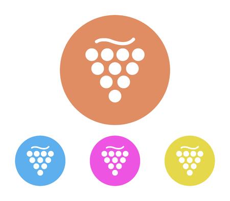 Grape icon set Illustration