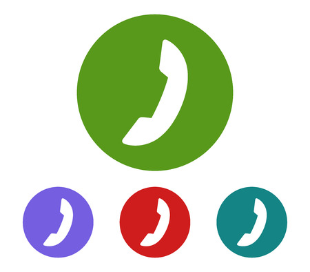 Set of phone handset icon