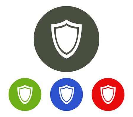 Set of shield icon Illustration