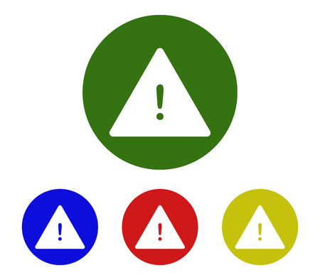 Danger sign icon set Illustration