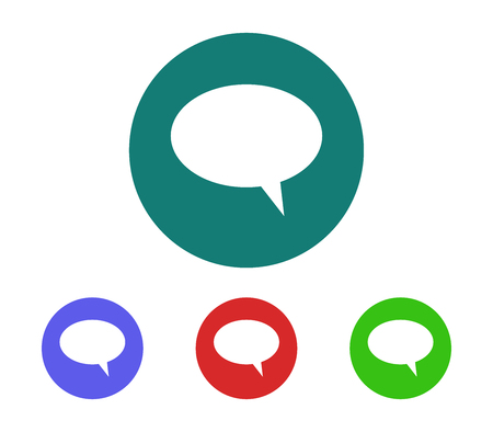 Set of cloud dialogue icon Illustration