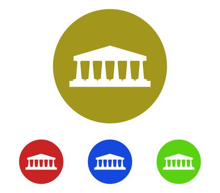 roman column: Temple icon set Illustration