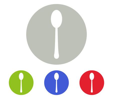 reverse: Spoon icon set Illustration