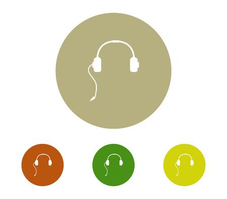 Music headset icon set