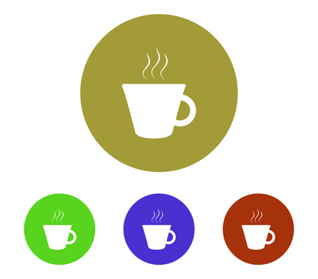 coffee beans: Coffee cup icon set.