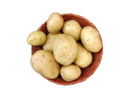 russet potato: Potatoes on white background Stock Photo