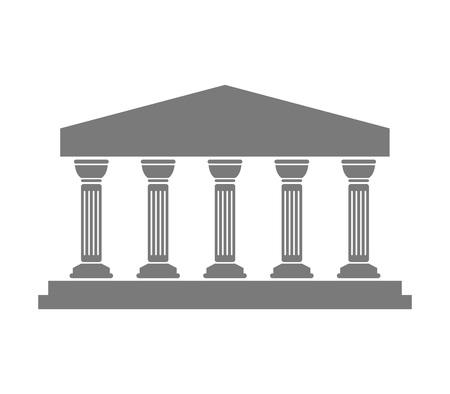 ギリシャの寺院のアイコン