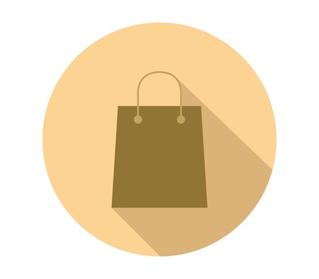 Shopping bag icon with shadow