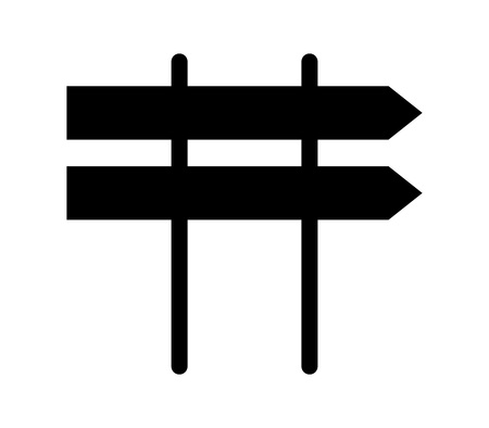 Signal road sign icon