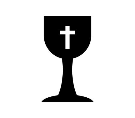 Christelijke beker pictogram