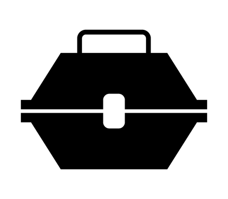 pictogram gereedschapskist Stock Illustratie