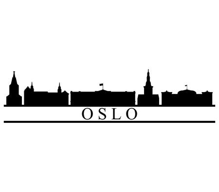 skyline oslo Фото со стока - 90064952