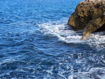 Sea with cliffs